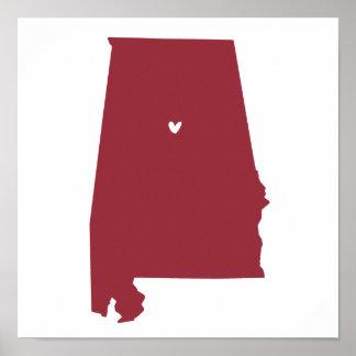 Birmingham, Alabama Love Poster