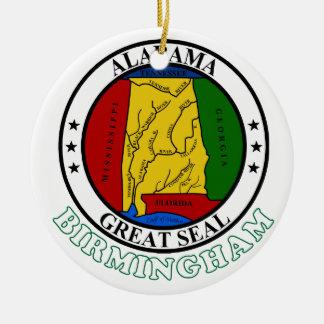 Birmingham Alabama Round Ceramic Ornament