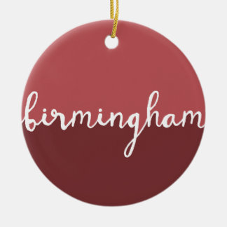 Birmingham, Alabama | Rust Circle Ombre Round Ceramic Ornament