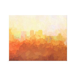 BIRMINGHAM, ALABAMA SKYLINE In the Clouds Canvas