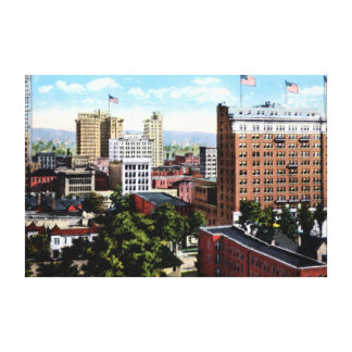 Birmingham Alabama Skyline View Canvas Print