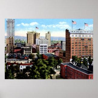 Birmingham Alabama Skyline View Poster