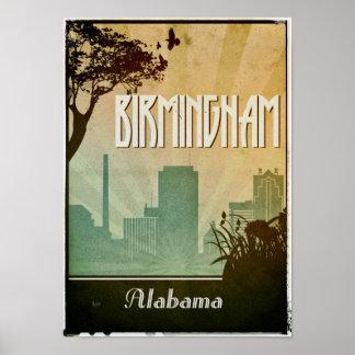 Birmingham  Art Deco Design City Poster artwork