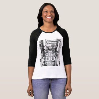 Birmingham Cityscape 0121 Do One on ladies T-shirt
