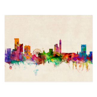 Birmingham England Skyline Cityscape Postcard