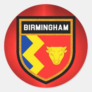 Birmingham Flag Classic Round Sticker
