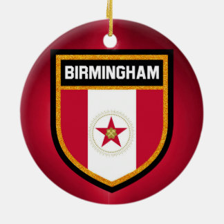 Birmingham Flag Round Ceramic Ornament