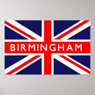 Birmingham UK Flag Poster