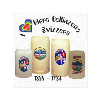 Birra Bellinzona Svizzera pressure on wedge canvas