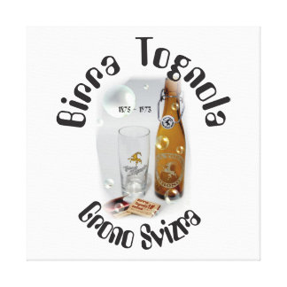 Birra Tognola Grono Svizra pressure on wedge canva Canvas Print