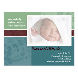 Birth Announcement cards - baby boy
