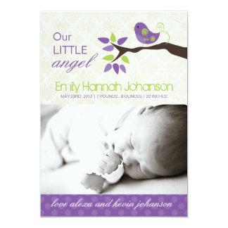 "Birth Announcement Photo Card 5"" X 7"" Invitation Card"