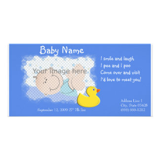 Birth Announcement Picture Card
