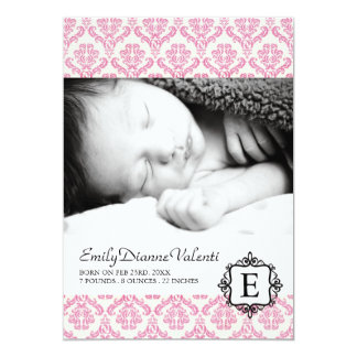 Birth Announcement Template Photo Card