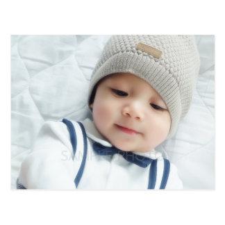 Birth Announcement with Custom Newborn Baby Photo Postcard