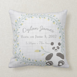 Birth Baby Pillow Panda Boy Girl Nursery