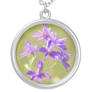 Birth month flower Larkspur necklace