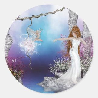 Birth of a Fairy Fantasy Elf Magic Stickers