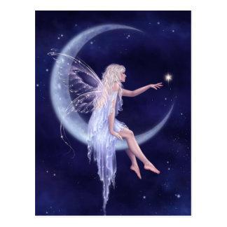 Birth of a Star Moon Fairy Art Postcard