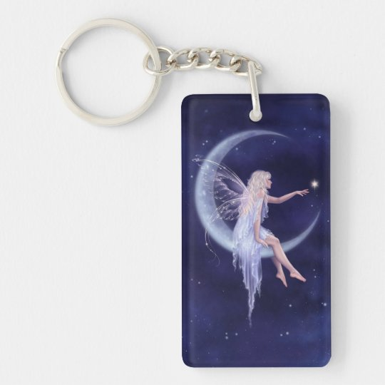 Birth of a Star Moon Fairy Double Sided Keychain