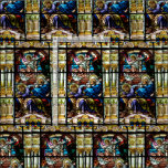 Birth of Jesus Stained Glass Window Fabric