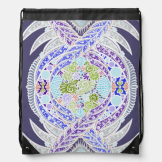 Birth of life, New age, meditation, boho, hippie Drawstring Bag