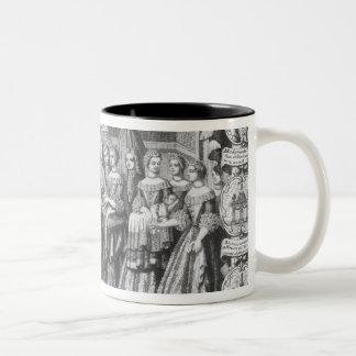 Birth of Louis, Dauphin of France Two-Tone Coffee Mug