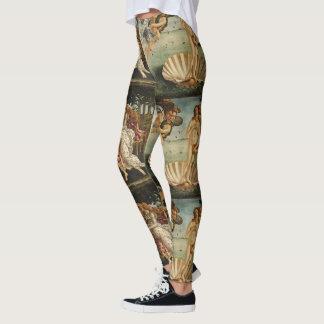 Birth of Venus by Sandro Botticelli Leggings