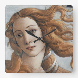 Birth of Venus close up in detail Square Wall Clock