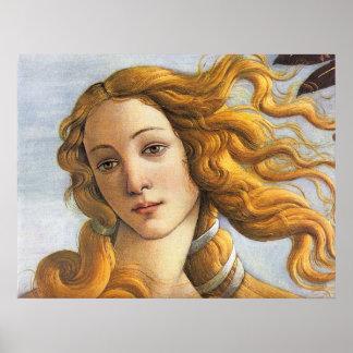 Birth of Venus detail, Botticelli Poster