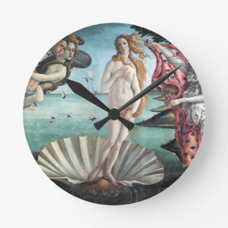 Birth of Venus Round Clock