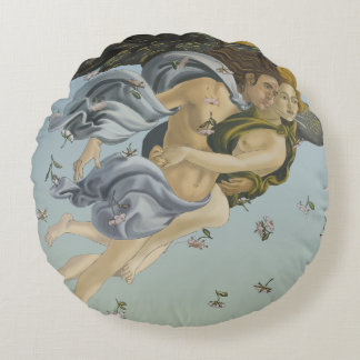 Birth Of Venus Round Cotton Pillow