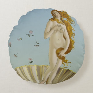 Birth Of Venus Round Cotton Pillow Set