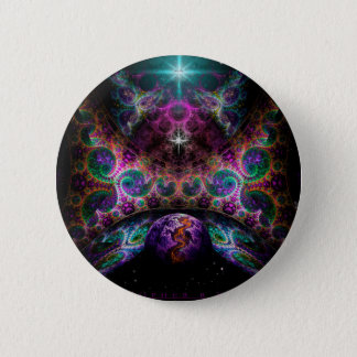 """""""Birth Of Worlds"""" by Christopher R Peters 2 Inch Round Button"""