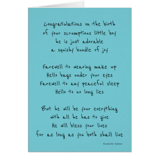 Birth of your baby boy card