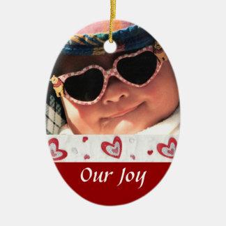 Birth or Adoption Keepsake Ceramic Oval Ornament