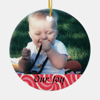 Birth or Adoption Keepsake Round Ceramic Ornament