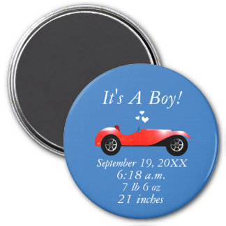 Birth stats Classic Car Gifts Sweet red Retro Car Magnet