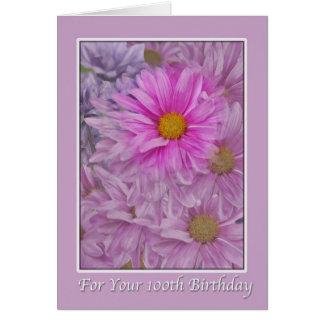 Birthday, 100th, Daisies Card