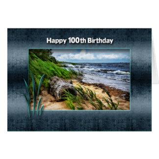 BIRTHDAY - 100TH -  Driftwood Card