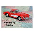 birthday - 1957 Corvette on map Card