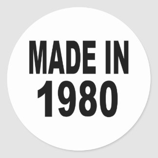 Birthday 1980 classic round sticker