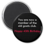 birthday 2 inch round magnet