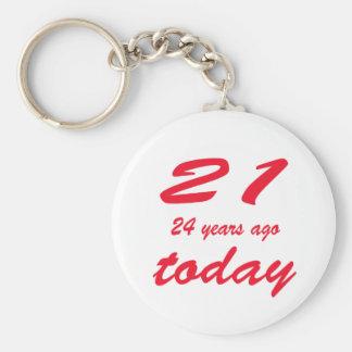 birthday 45 keychain