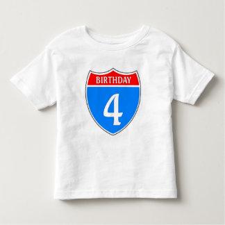 Birthday #4 toddler t-shirt