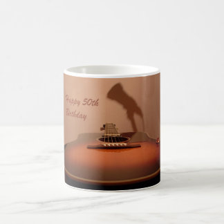 Birthday 50th Guitar Coffee Mug