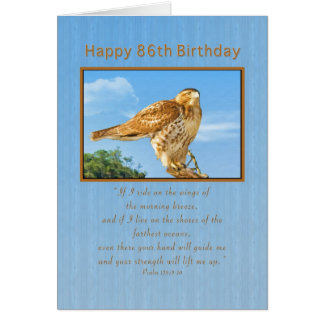 Birthday, 86th, Rough-legged Hawk Greeting Card