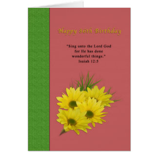 Birthday, 86th, Yellow Daisies, Religious Cards