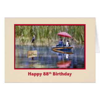 Birthday, 88th, Two Fishermen at the Lake Card