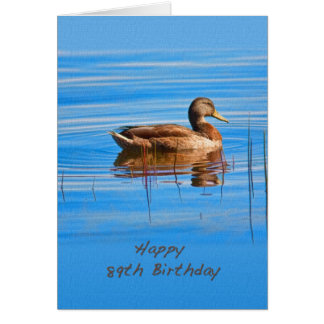 Birthday, 89th, Mallard Duck Card